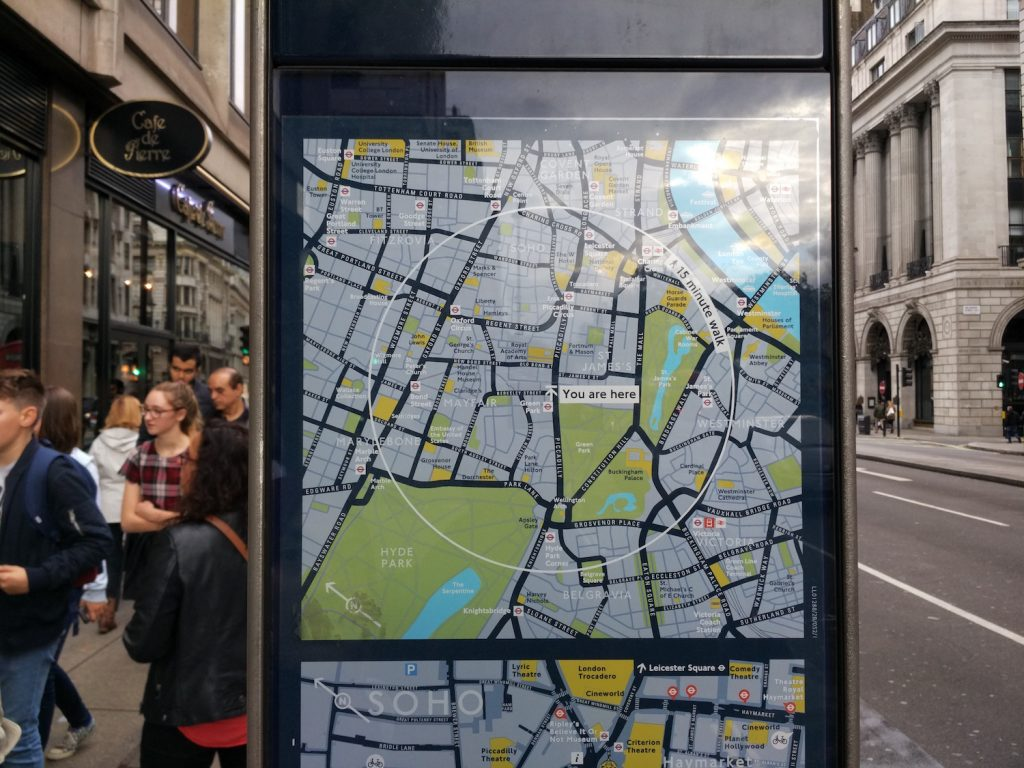 There are lots of offline map in Piccadilly in case you're lost.