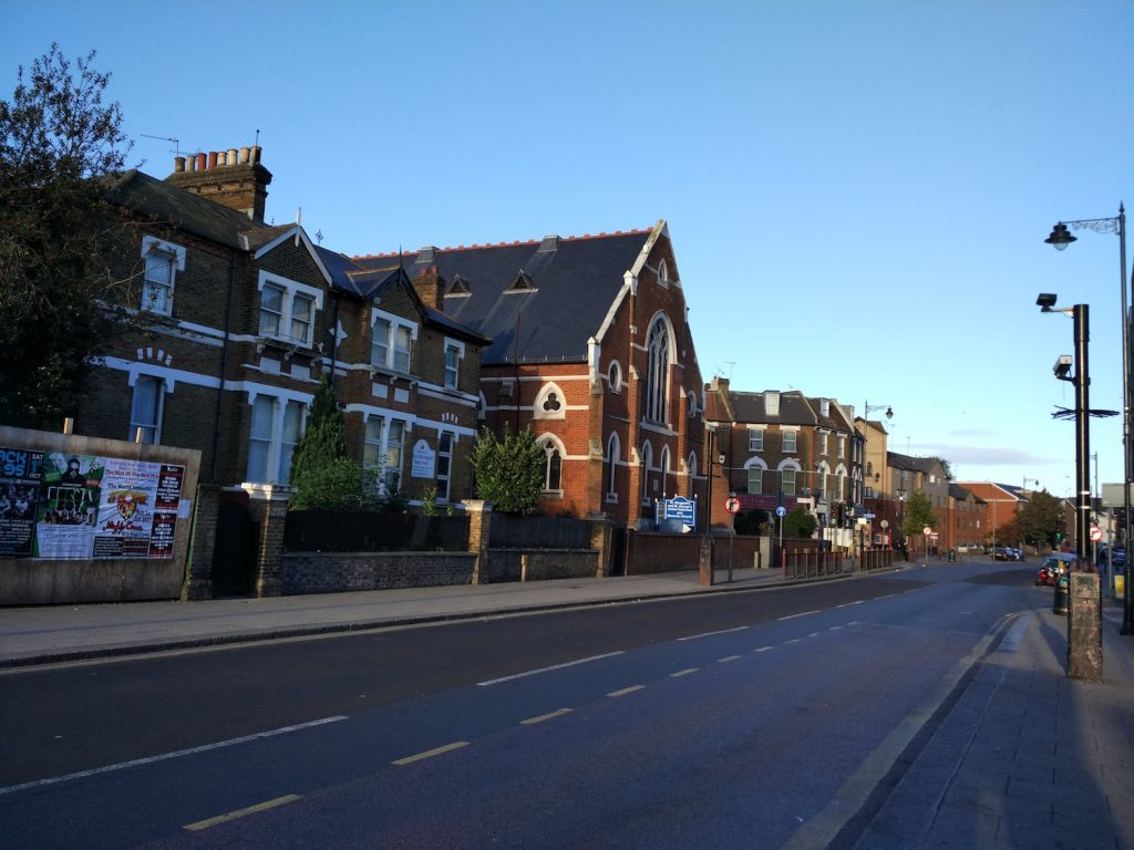 It was in the suburb. I love London in the morning (bcs it's quiet).